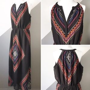 Old Navy Large Maxi Dress Boho Black Bright Color